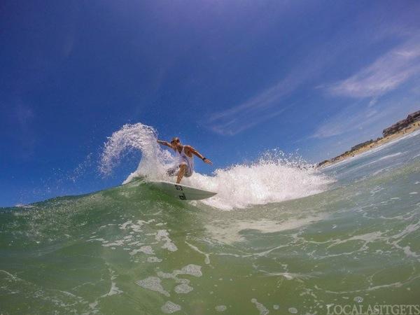 Thomas surfing