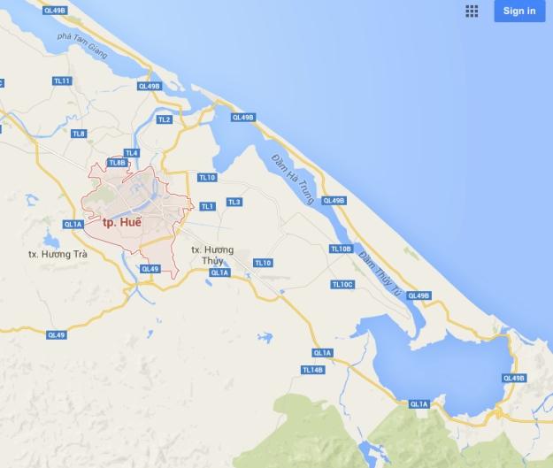 Hue environs Map