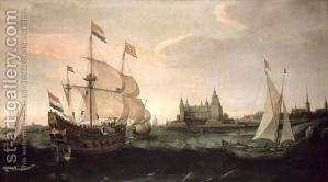 Dutch Ships In Front Of The Danish Coast 1612