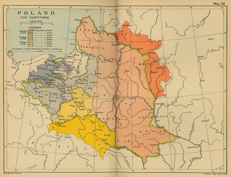 Poland Partitions 1700s